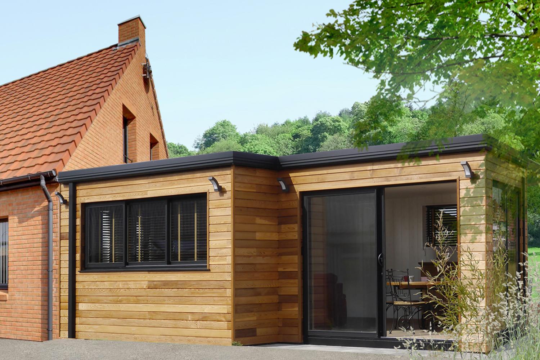 Extension maison en bois photos de conception de maison for Extension de maison en bois