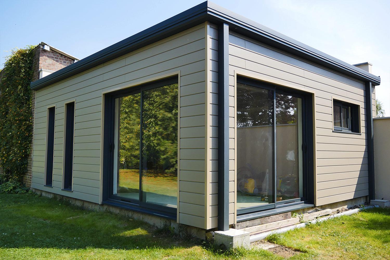 Extension bois de maison et studio de jardin md concept for Extension maison bois 94