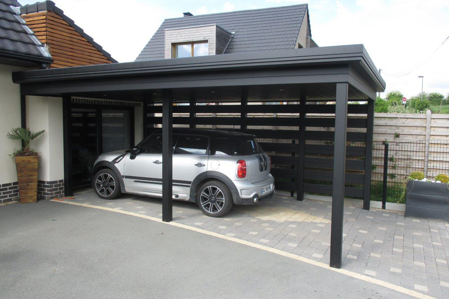 votre carport en alu sur mesure. Black Bedroom Furniture Sets. Home Design Ideas