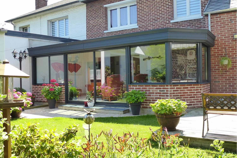 V randa aluminium sur mesure concr tisez votre projet for Extension maison facile
