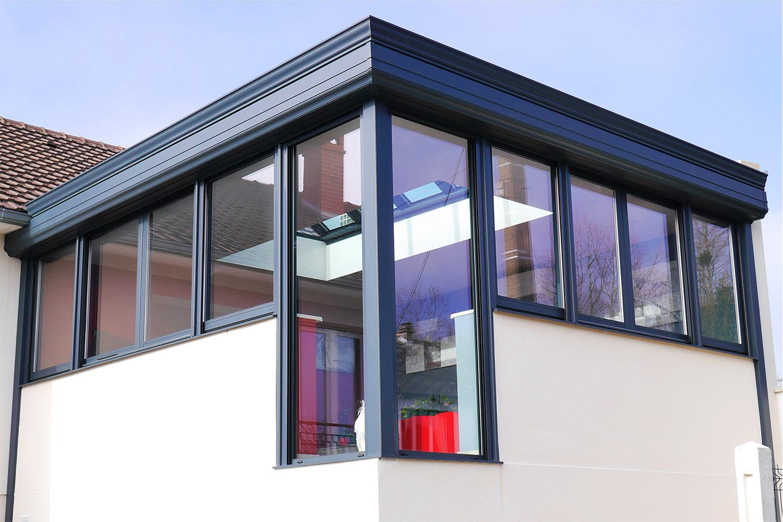 Extension de maison cube concr tisez votre projet md concept - Isolation phonique toiture veranda ...