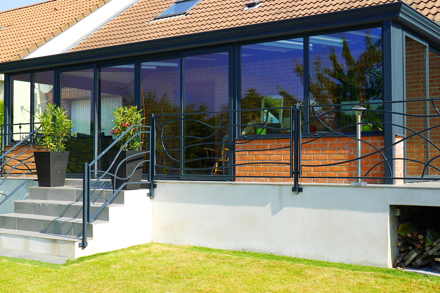 extension veranda maison extension et vranda duune maison de ville marseille with extension. Black Bedroom Furniture Sets. Home Design Ideas